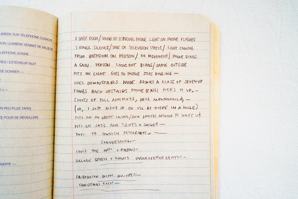 Une page des Cahiers de Basquiat