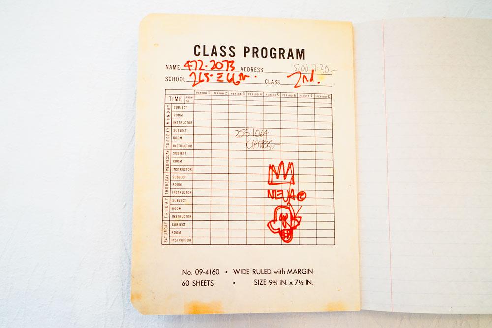 L'ouverture des Cahiers de Basquiat