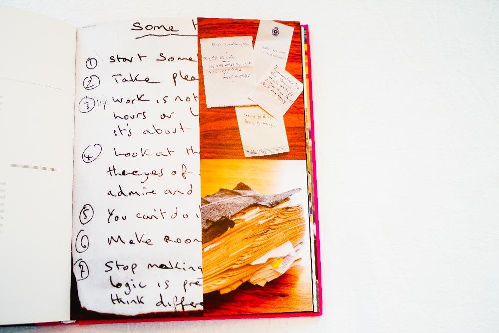 Les carnets et post-it de Paul Smith
