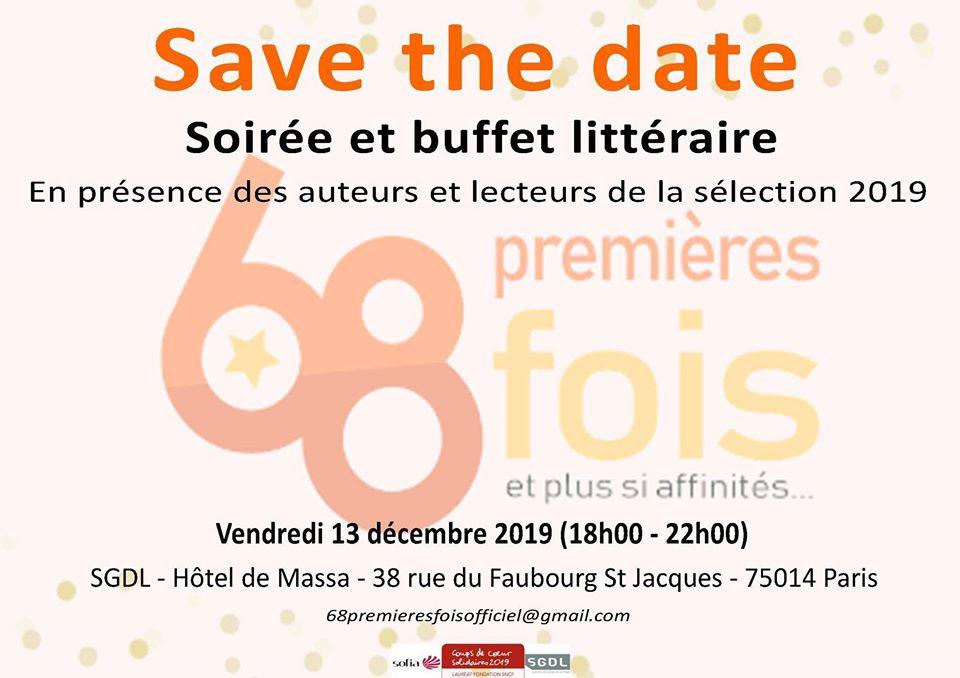 Soirée des 68 premières fois – Vendredi 13 décembre à la SGDL, à Paris