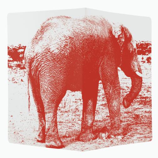 Carnet Eléphant ouvert